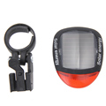 2 LED Red Bike Bicycle Solar Energy Rechargeable Red Tail Rear Light Flash Safety Warning