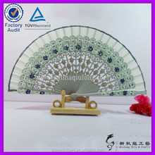 custom silk fan hand fans wedding favors nylon folding fan