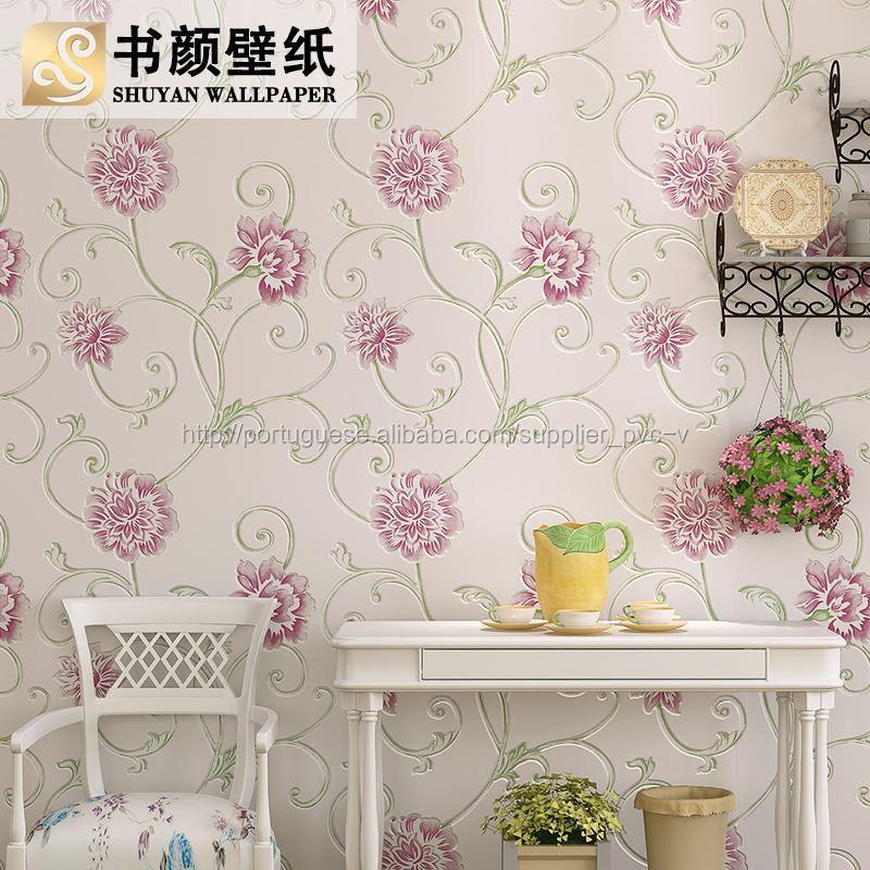 Estereosc pico flor roxa wallpaper id lico rom ntico n o - Papel paredes ikea ...