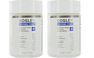 Bosley Healthy Hair Vitality Supplement for Men, 60 Count, 2 pack