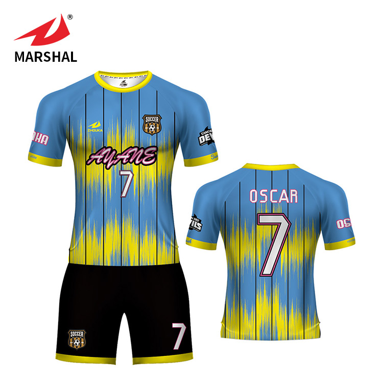 3c25b9df2a8 Wholesale Club new design 100% Polyester Football T-shirt Custom Training  Sports Uniforms Soccer Jersey.