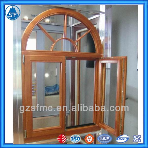 Color de media luna de aluminio ventanas de madera for Ventanas de aluminio color madera precios
