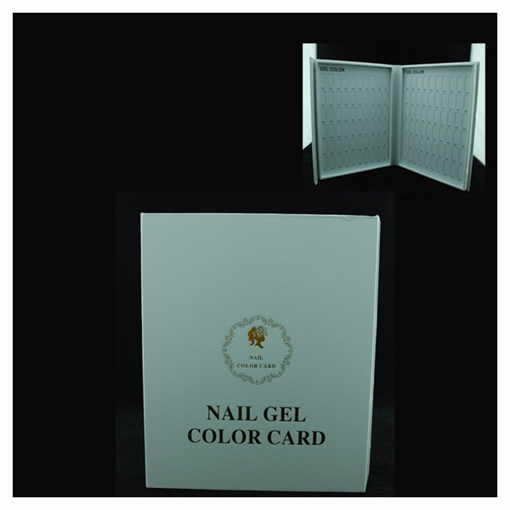 Generic Nail Salon Accessory 120 blank book for nails art display wood chip inside nail gel color card nail color chart