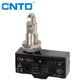 CNTD Top Quality 1NO1NC Panel Mount Roller Plunger Mini Micro Switch 5A 250V (CM-1309)