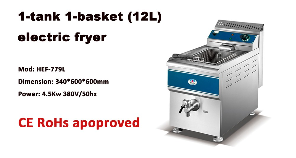HGF-779 1-tank 1-basket table top gas fryer from FLAMEMAX