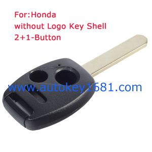 Keyless Remote Key Fob Replacement Case 2+1-Button Blade Shell For Honda
