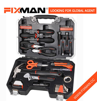 Fixman 45pcs Homeowners Tool Kit Toolbox Best Sets For