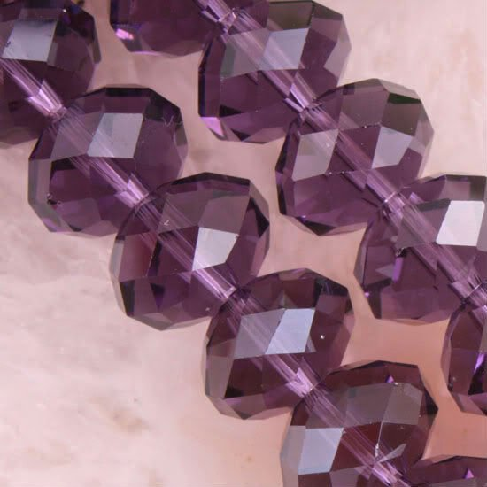 8X12MM Purple Crystal Quartz Faceted Loose Beads