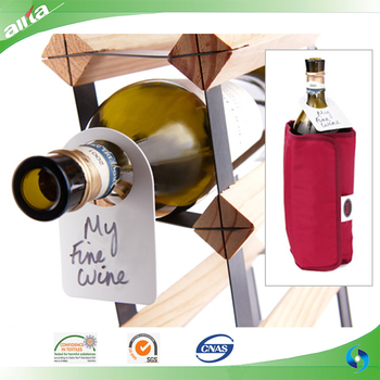 Wholesale custom wine bottle neck hang tag Dual-Labeled Wine Cellar Bottle Tags