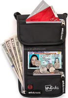 RFID Blocking Nylon Airport ID and Ticket Wallet With Lanyard