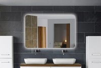 FARLO Bathroom wall mount lighting mirrors with magnifier