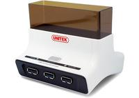 UNITEK USB3.0 to SATA6G Hard Drive Docking Station with OTB Function + USB3.0 3 Port hub, for 2.5