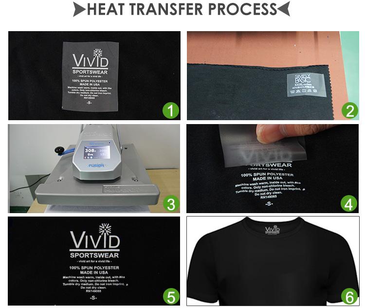 Qingyi custom garment transfer care heat press clothing labels