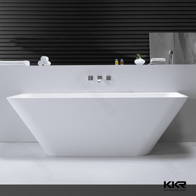 O shape artificial stone free standing value 1600mm shower bath