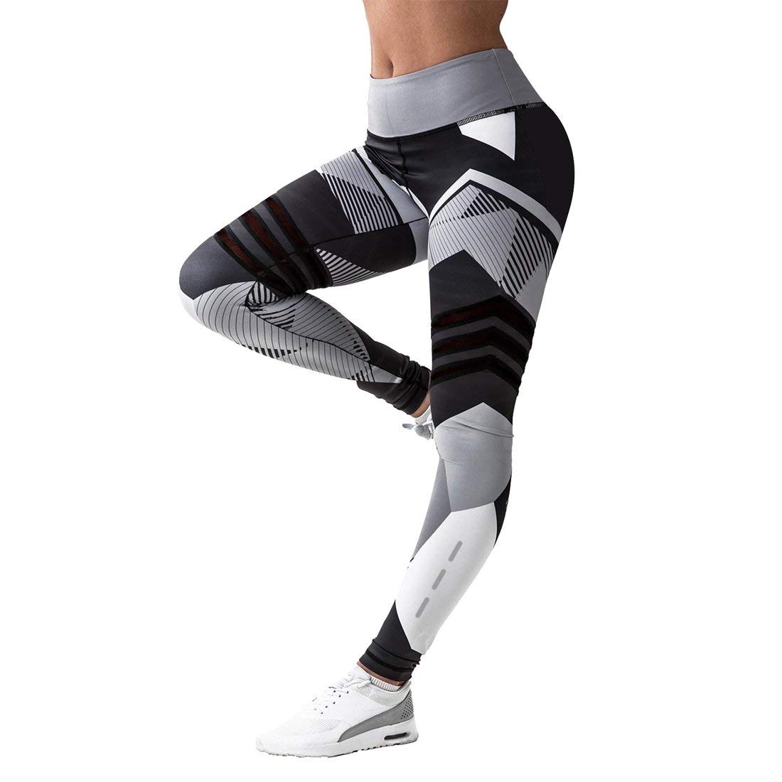 d162018381077 Get Quotations · RIBIKA Skinny Sport Leggings Yoga Pant Exercise Workout  High Waist Flexible Compression