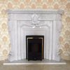 Hot sale china fireplace, pure white marble fireplace