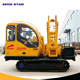 Crawler solar post ground hole drill earth auger piling driver machine