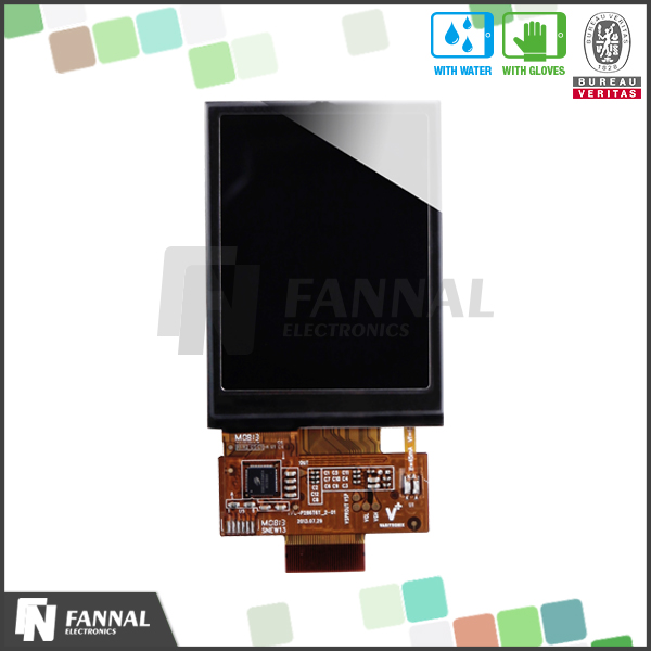 "2.8"" capacitive touch screen tft lcd module 8080 mcu interface"