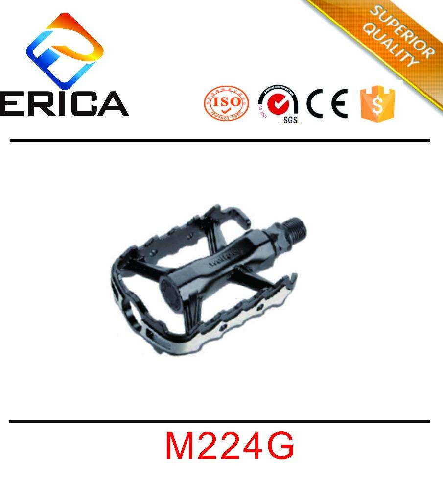 Wellgo WM001 MTB Road Bike Pedal Aluminum Standard Pedal Platform Light Yellow