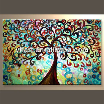 Hot Sale New Desgin Handmade Abstract Colorful The World Tree