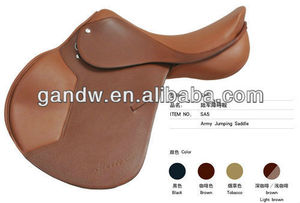 Army Jumping leather racing horse saddle
