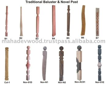 Attractive Wooden Newel Post Designs, Wooden Stair Parts At Negotiable Rate