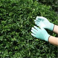 Brand MHR 2016 best selling winter gloves hi-viz green nylon coated green PU gloves