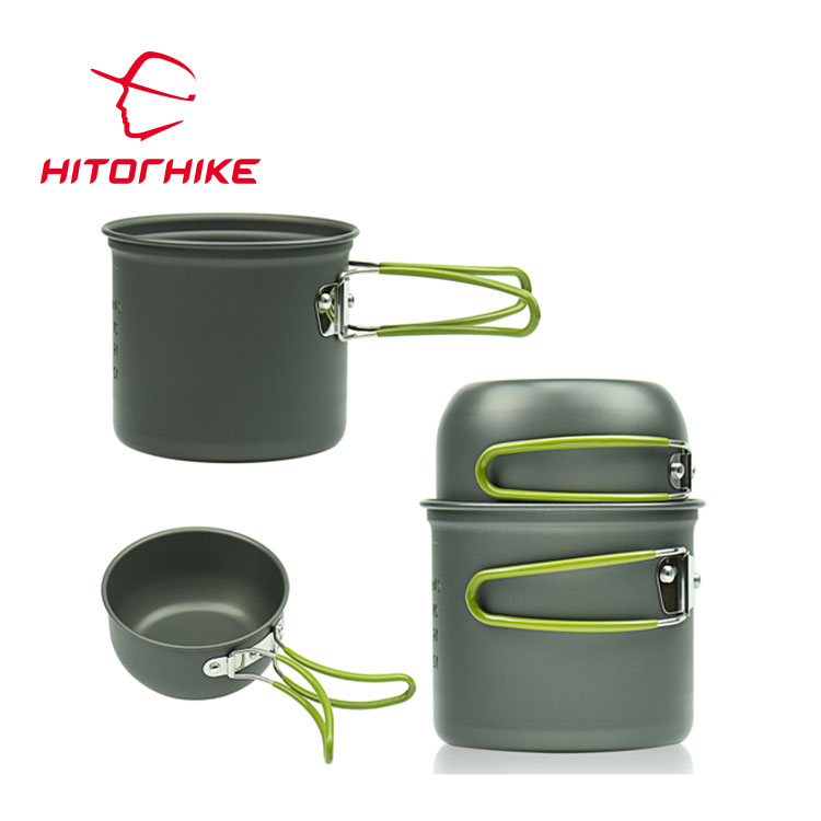 Outdoor Cookware Mess Kit Camping Pot Portable Camping Cookware Pot Set