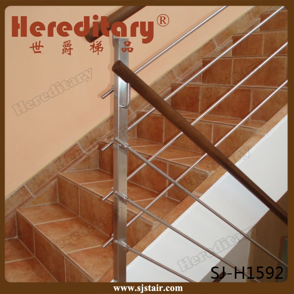 Interior Stainless Steel Pipe Stair Handrail/metal Stair Railing/balustrade