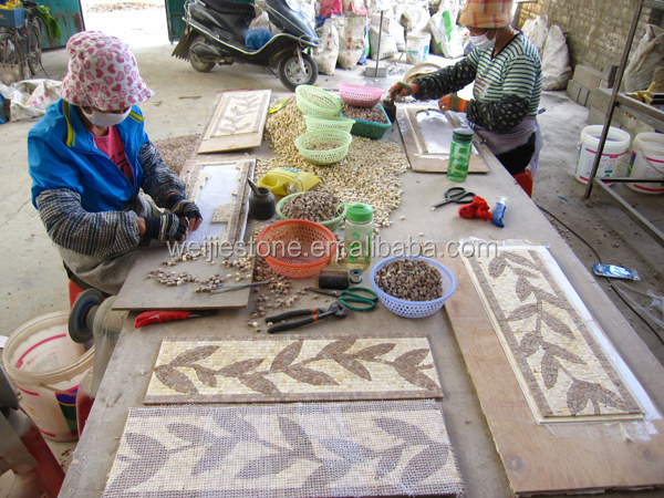 Handmade Decorative Stone Marble Mosaic Leaf Pattern