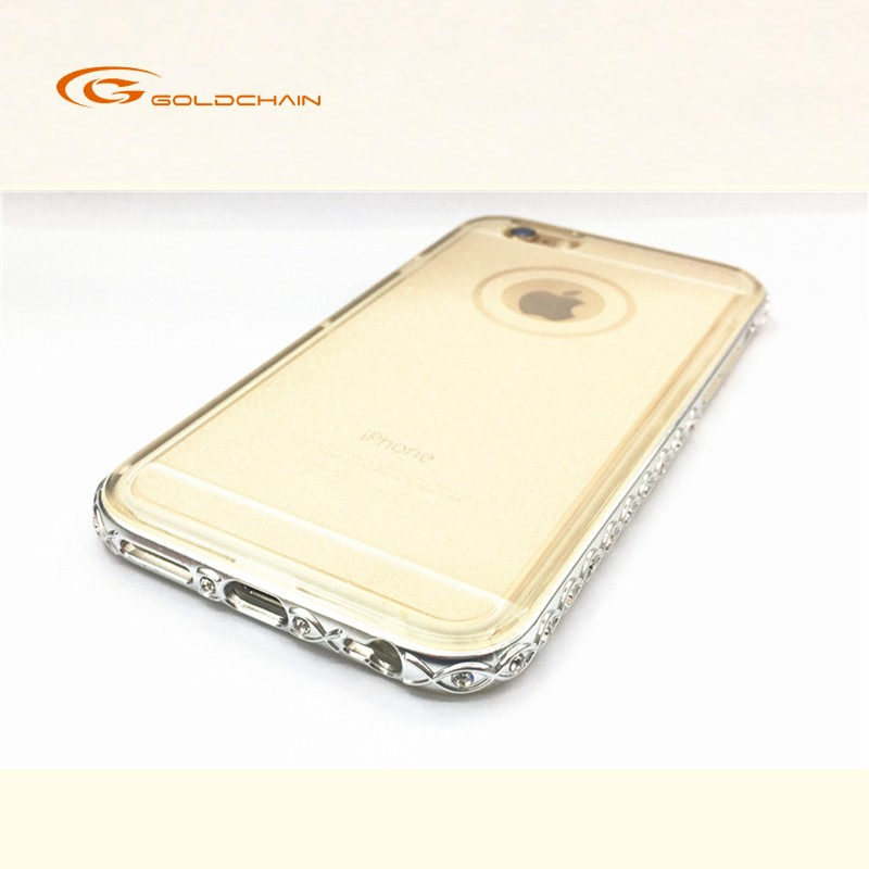GC Lady use Electroplating diamond TPU case for iphone