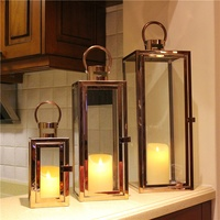 Wholesale Decorative Rectangular Shaped Metal Stainless Steel LANTERNS