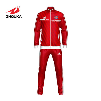 c1c26d3f Oem Women Sports Tracksuit Wholesale Printing Owm Logo Lady Red Tracksuit  With High Quality Football Womens