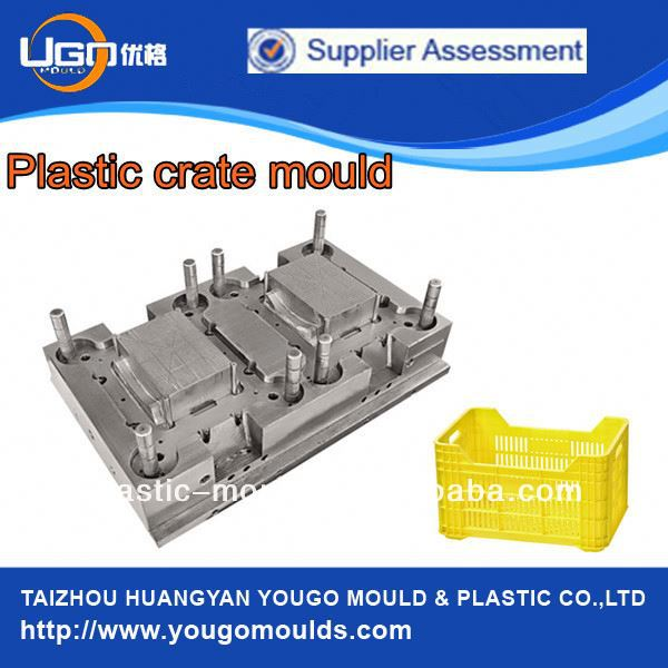 (Full detail instruction) for plastic injection moulding crate mould with injection machine