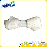 Pet chews private label white rawhide braid bones for dog chews