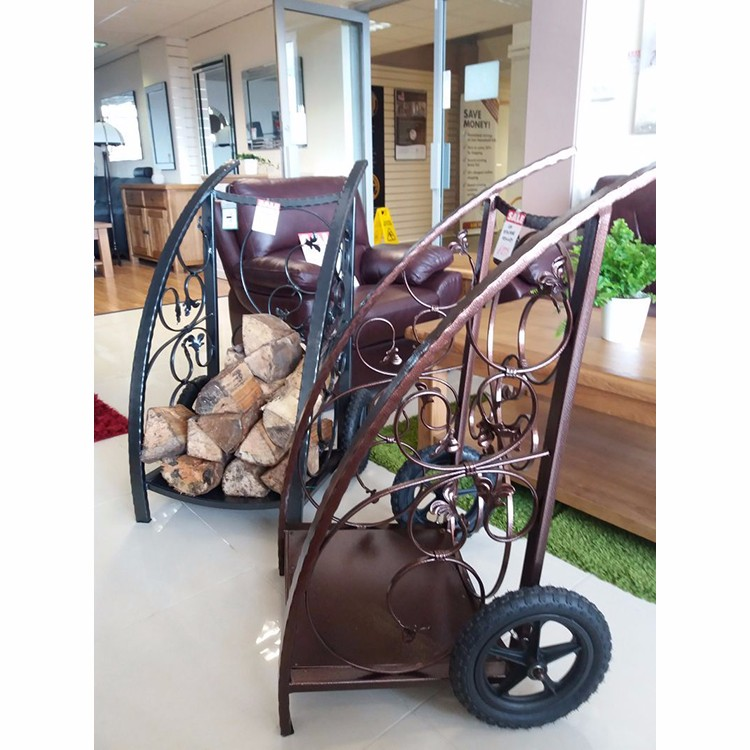 Wood Cart On Wheels Steel Fireplace Wood Basket - Buy Wood Cart On ...