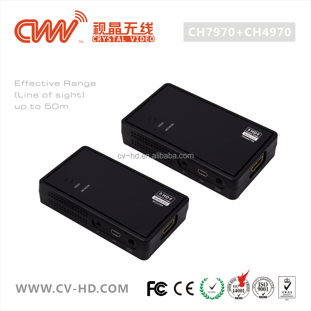 CVW CH7970/CH4970, Wireless Video HDMI 1.4 3D video extender 50M USB power