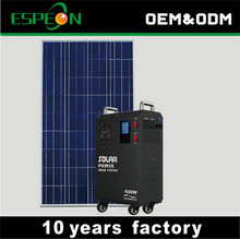 300W DC and AC solar generator solar power system home with FM radio
