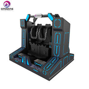 Thrilling roller coaster 9d vr virtual reality 360/720/1080 pendulum 2 seats chair simulator machine price