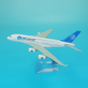 Scale 1/400 18.8cm length diecast model plane airbus a380