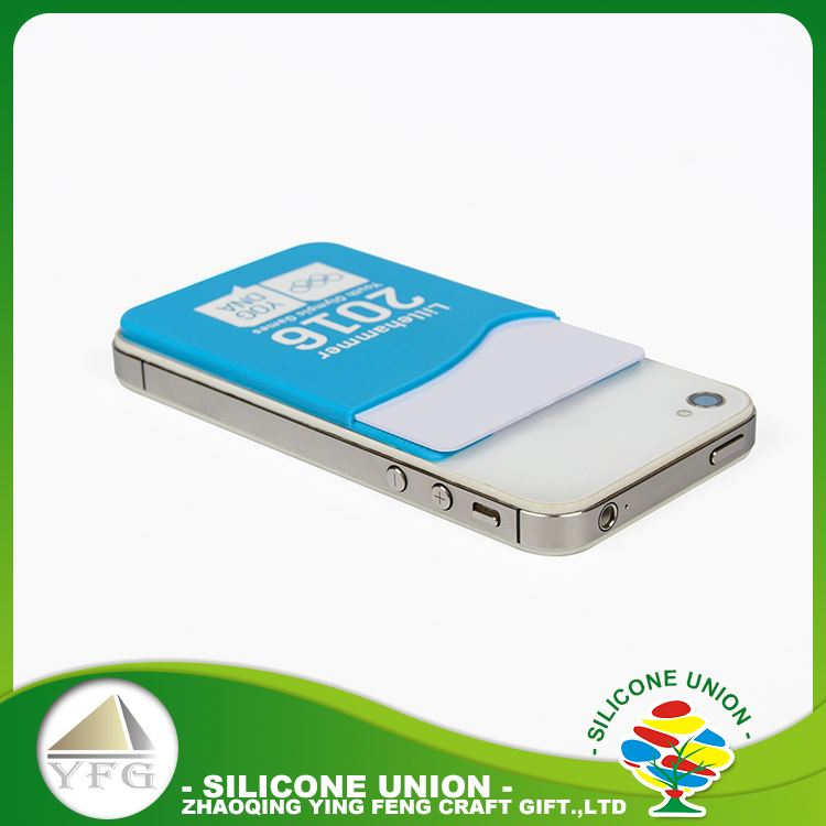 Most popular custom logo multiple colour silicone phone card holder compatible with phone 5s 6s