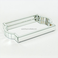 espelho decoracoes special handle Crystal mirror serving tray