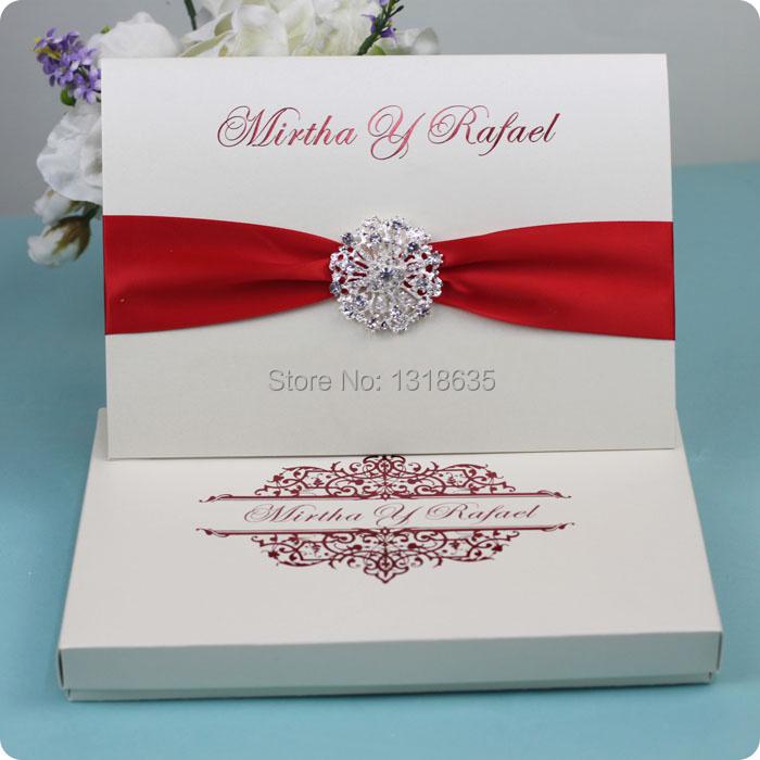 Gift Box Wedding Invitations: Embellished-buckle-wedding-invitation-gift-paper-box