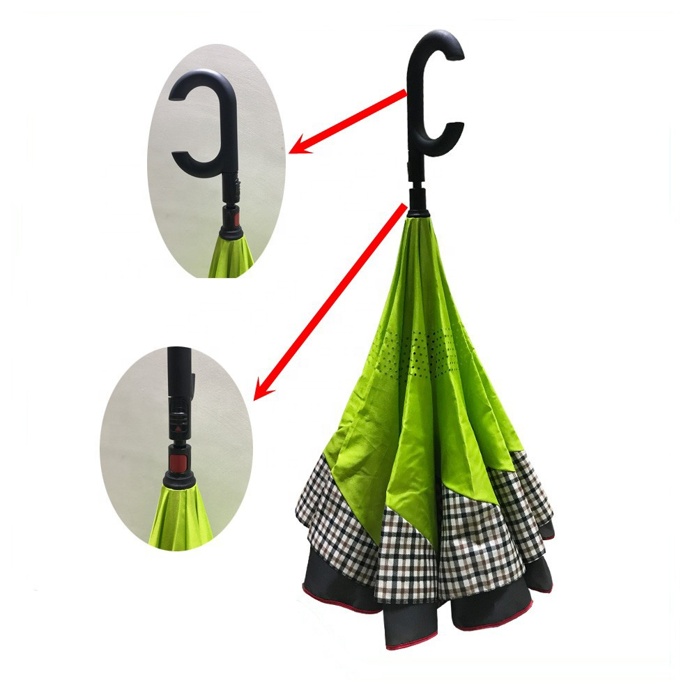 23 Inch Manual Open Auto Close Reverse Rainproof Umbrella - Buy Reverse  Rainproof Umbrella,Upside Down Umbrella,Inverted Umbrella Product on