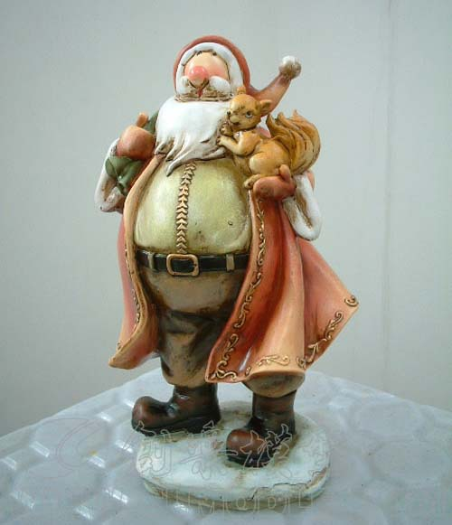 Santa claus resin figurines antique white christmas buy