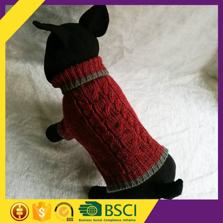 China Cool Fashion Comfortable Top Quality Cheap Warm Woolen Dog Clothes