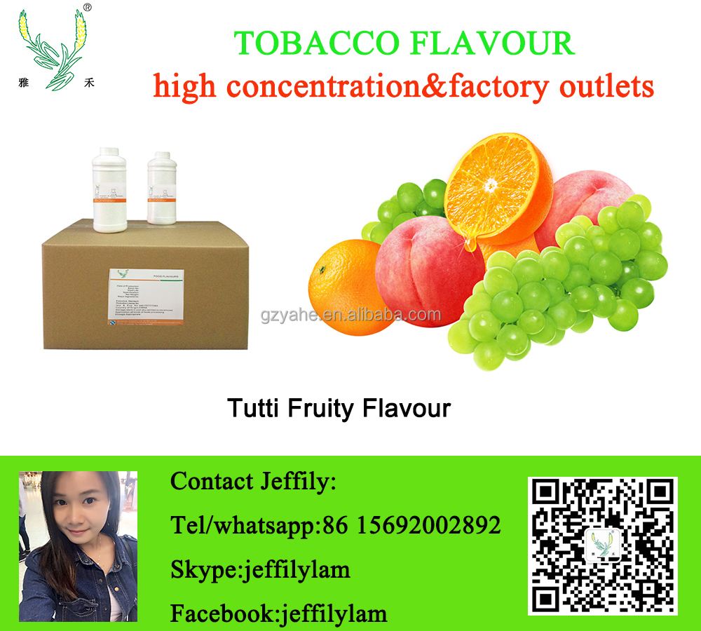 Tutti Fruity shisha flavour,hot selling and good smell fruity flavor for water pine tobacco