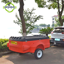 Ningbo ABS Plastic luggage trailer camping or drive travel trailer with car