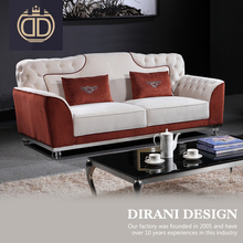European design living room furniture antique chaise lounge brown and white button tufted chesterfield foam sofa set