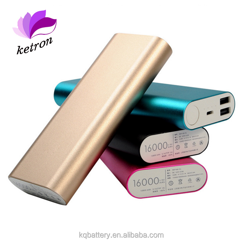 Aluminium alloy mi power bank 16000mah cell phone super charger rohs battery charger